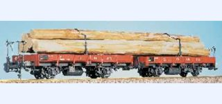 ABG Swiss FO Lkl flat car with wood